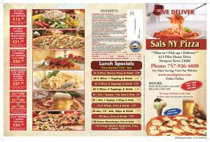 Sal's Newport News Menu 2015 p1